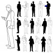 Business Men Group Set 03 — Imagen vectorial