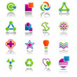 Abstract Icon & Symbols Set 01 — Stock Vector #5879979