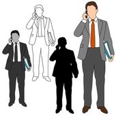 Business Man Style Set 10 — Stock Vector