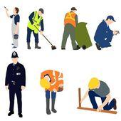Professions - Men at Work Set 01 — Stock Vector
