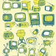 Retro TVs Collection — Stock Vector