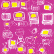 Stock Vector: Retro TVs Collection