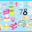Bday Vector Set — Stockvectorbeeld