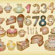 Bday Vector Set — Vettoriali Stock