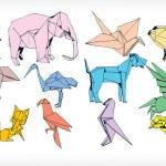 Origami Animals Set (vector) — Stock Vector #5409681