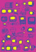 Retro TVs Collection — Stock Vector