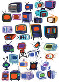 Vintage TVs collection — Stock Vector