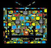 手描きテレビのベクトル — ストックベクタ