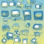 Vector TVs Collection — Stock Vector