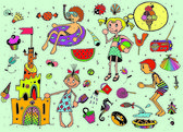 Funny Kids — Stock Vector