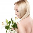 Orchid lady — Stock Photo #5485520
