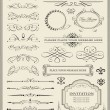 Royalty-Free Stock Imagen vectorial: Calligraphic design elements and page decoration