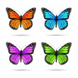 Butterflies — Stock Vector #5608847