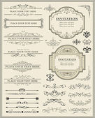 Calligraphic design elements and page decoration — Vector de stock