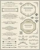 Sayfa süsleme ve kaligrafi tasarım öğeleri — Stok Vektör