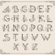Royalty-Free Stock Imagen vectorial: Calligraphic alphabet