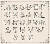 Kalligrafische alfabet — Stockvector