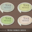 Retro bubbles speech - Stok Vektr
