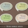 Retro bubbles speech - Imagens vectoriais em stock