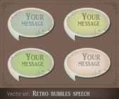 Retro bubbles speech — Stock Vector
