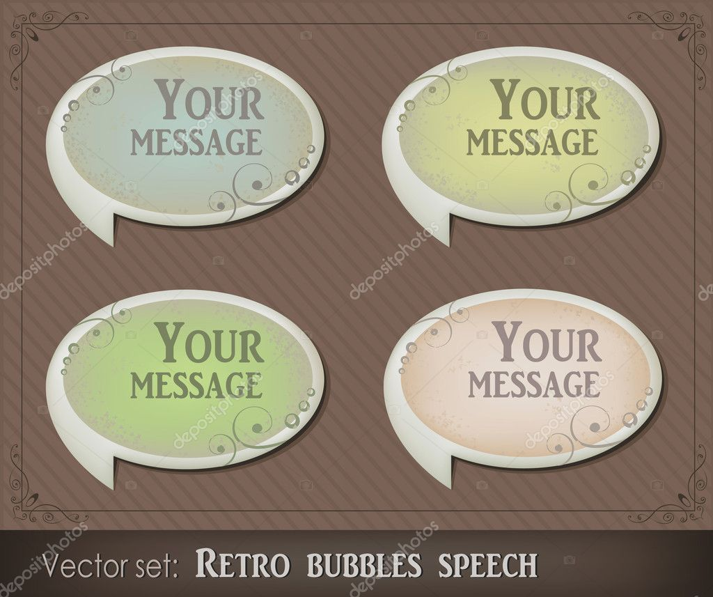 Vector illustration of retro bubbles speech  Stock Vector #5854734