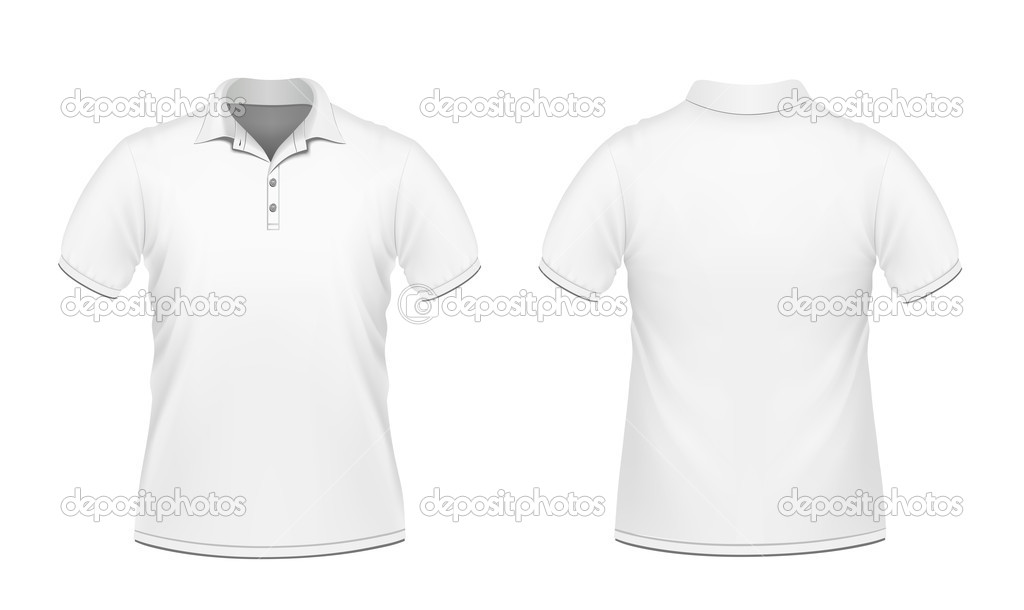 Vector illustration of white men's polo  Stock Vector #5854803