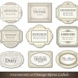vintage retro labels — Stock Vector