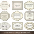 Vintage retro labels - Stock Vector