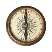 Success compass guides to win — Foto Stock