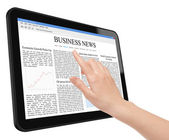 Business News Concept on Tablet PC — Stock Photo