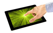 Sensory Perception on Tablet PC — Stock Photo