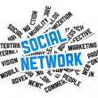 Social Network Sign - Stock Photo