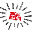 Social Media Sign - Stock Photo