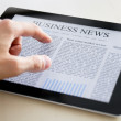 Business News On Tablet PC — Stock Photo