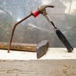Hammer and nail — Stock Photo #6125804
