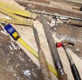 Ferramentas de carpinteiro — Foto Stock