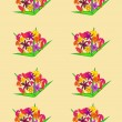 Bouquets of flowers on a background — Stock Vector
