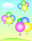 Palloncini in cielo — Vettoriale Stock