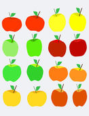 Apples on a gray background — 图库矢量图片