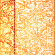 Vintage golden decorative background — Stock Photo