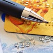 Credit card and pen — Stock Photo #5427957