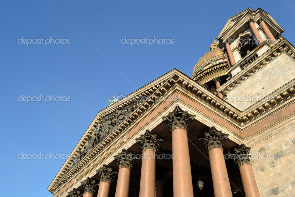 Architectural details of St. Isaac's Cathedral , St. Petersburg , Russia  Stock Photo #5595078