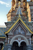 Architectural details of Church of the Savior on Blood — Stock Photo