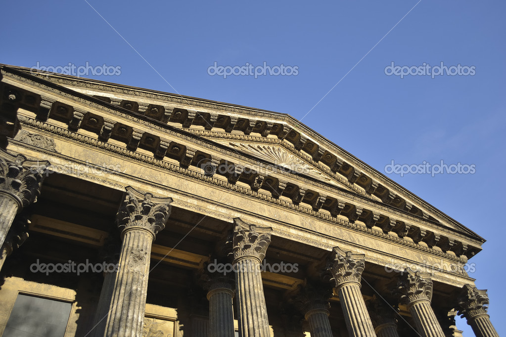 Pediment of Kazan Cathedral in St.Petersburg, Russia — Stock Photo #5649522