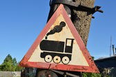 Road sign - train — Stock Photo