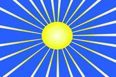 The hot summer sun — Stock Vector