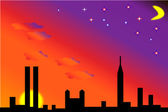 City sunset — Stock Vector