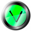 Stock Vector: Validation button