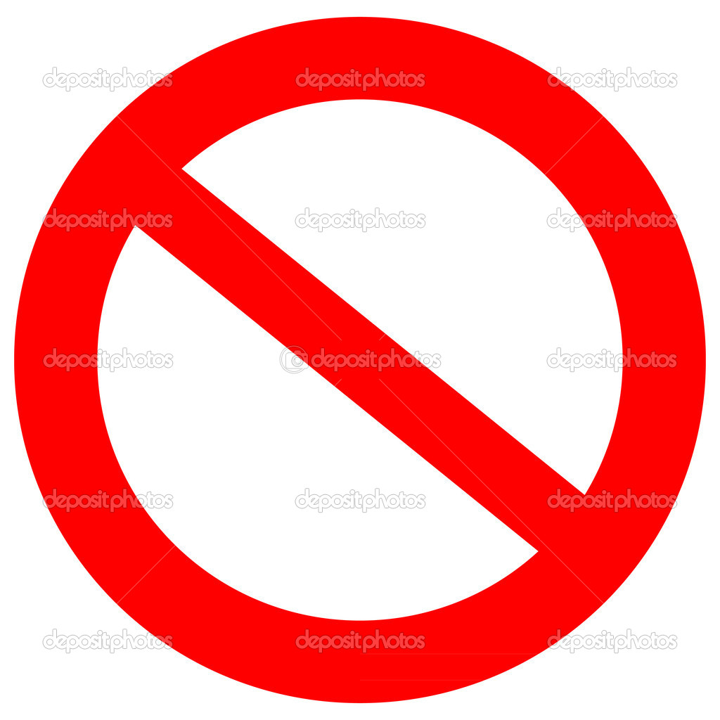 Not allowed sign stock vector 5952707 for Drawing websites no download
