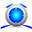 Stock Vector: Blue alarm clock